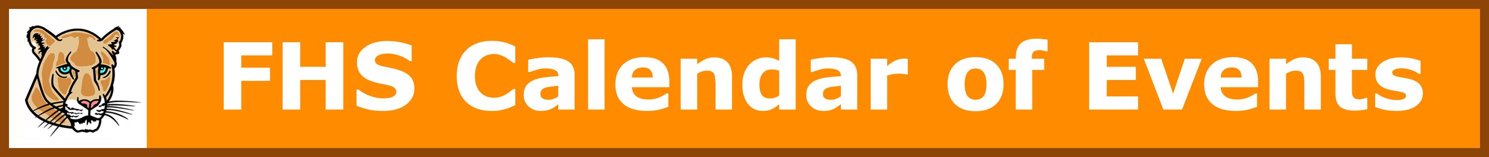 FHS Calendar of Events